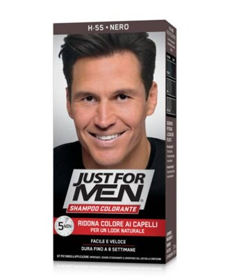 Just For Men šampón na šedivé vlasy H-55 Real Black